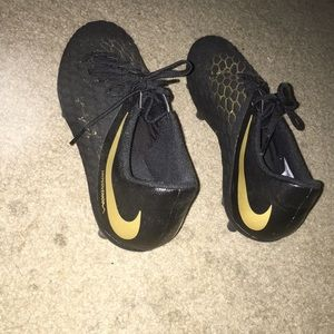 Black+Gold Nike Soccer Cleats
